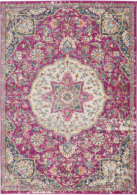 Nourison Passion Bohemian Pink Colored Area Rug - NOR-PSN22-Pink