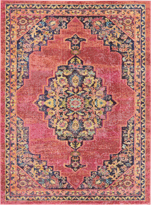 Nourison Passionate Pink Flame Area Rug - NOR-PST01-Pink Flame