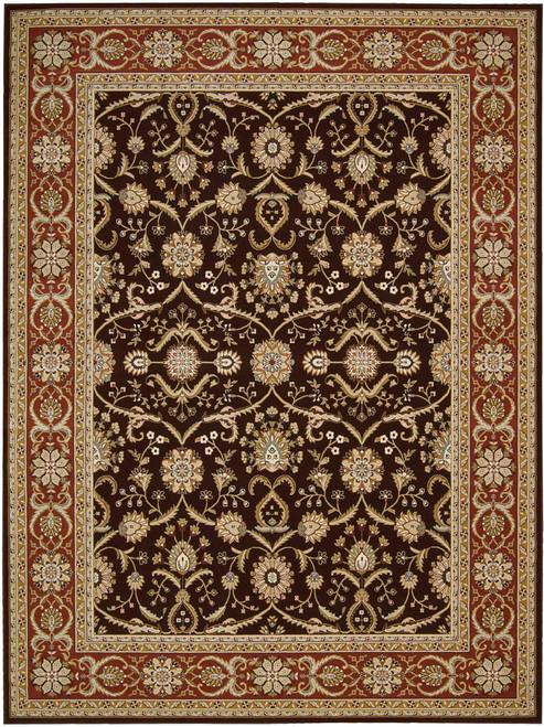 Nourison Persian Crown Dark Brown Area Rug - NOR-PC001-Dark Brown