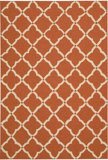 Nourison Portico Orange Area Rug - NOR-POR01-Orange
