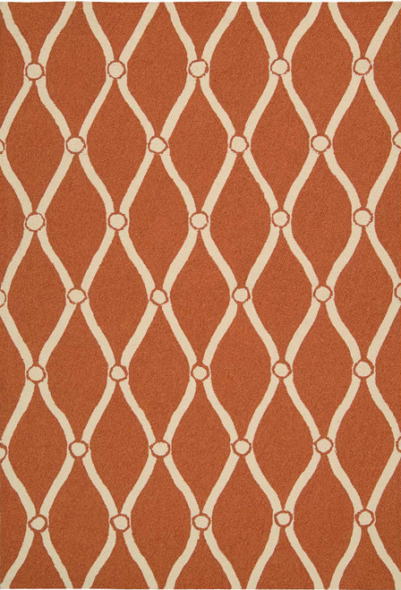 Nourison Portico Orange Area Rug - NOR-POR02-Orange