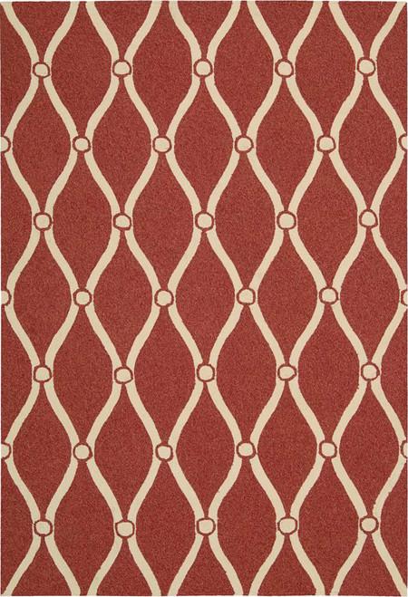 Nourison Portico Red Indoor-Outdoor Area Rug - NOR-POR02-Red