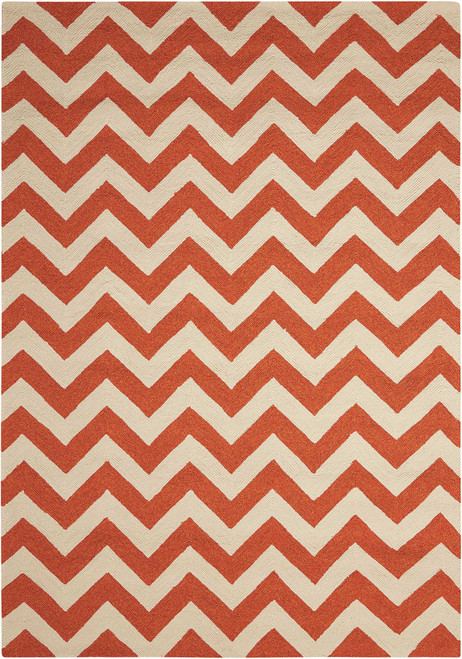 Nourison Portico Orange Area Rug - NOR-POR03-Orange