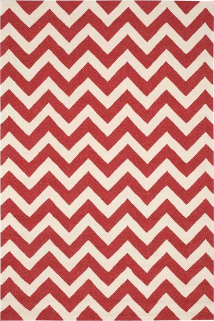 Nourison Portico Red Indoor-Outdoor Area Rug - NOR-POR03-Red