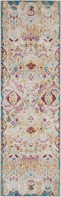 Nourison Radiant RAD01 Grey Multicolor Low-pile Hallway Area Rug - NOR-RAD01-Light Grey-Multicolor