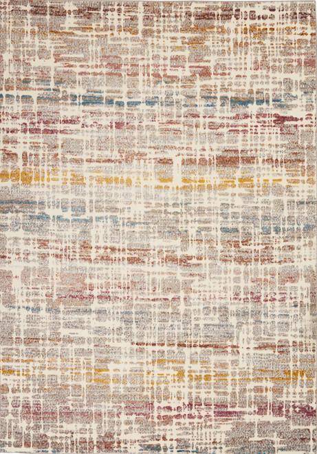 Nourison Radiant RAD08 Ivory Multicolor Low-pile Hallway Area Rug - NOR-RAD08-Ivory-Multicolor