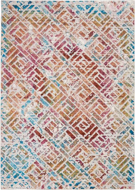 Nourison Radiant RAD09 Multicolor Low-pile Hallway Area Rug - NOR-RAD09-Grey-Multicolor