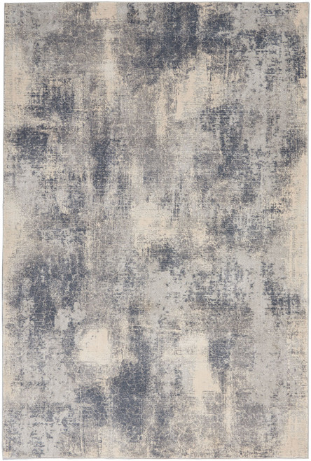 Nourison Rustic Textures RUS02 Slate Blue and Ivory Area Rug - NOR-RUS02-Blue-Ivory