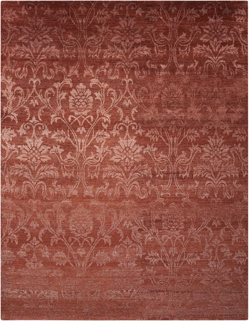 Nourison Silk Shadows Rust Area Rug - NOR-SHA03-Rust