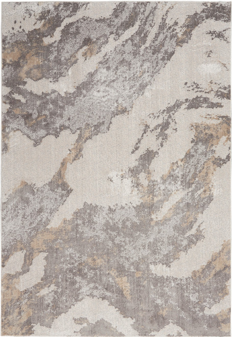 Nourison Silky Textures Area Rug - NOR-SLY03-Brown-Ivory