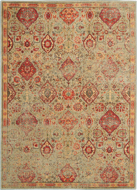 Nourison Somerset Light Green Oriental Area Rug - NOR-ST90-Light Green