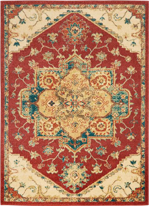 Nourison Antique Persian Area Rug - NOR-TRQ01-Red
