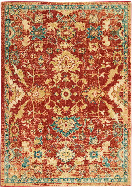 Nourison Traditional Antique Persian Area Rug - NOR-TRQ02-Red
