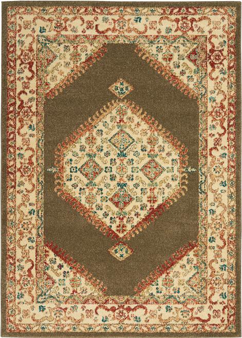 Nourison Antique Persian Area Rug - NOR-TRQ03-Brown