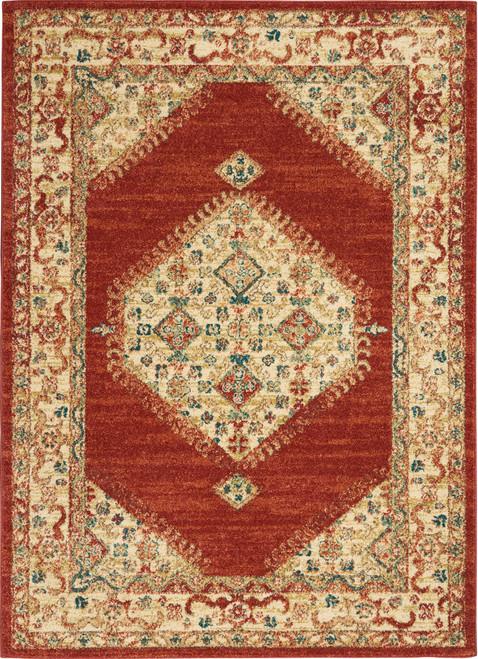 Nourison Antique Persian Area Rug - NOR-TRQ03-Red