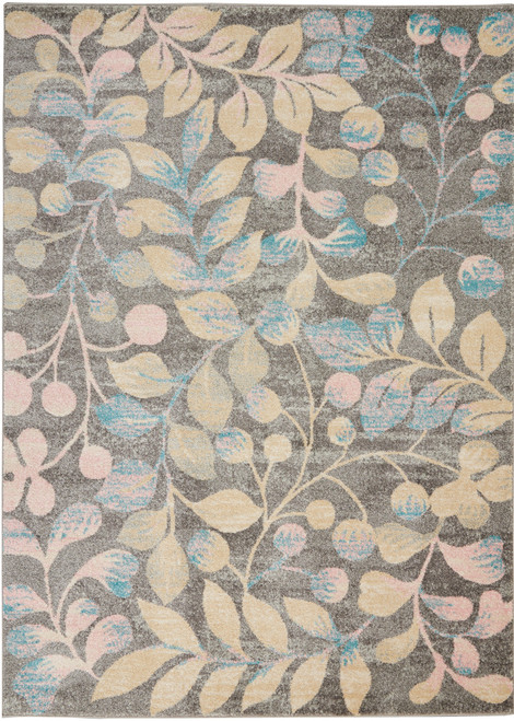 Nourison Tranquil TRA03 Beige and Grey Hallway Area Rug - NOR-TRA03-Grey-Beige