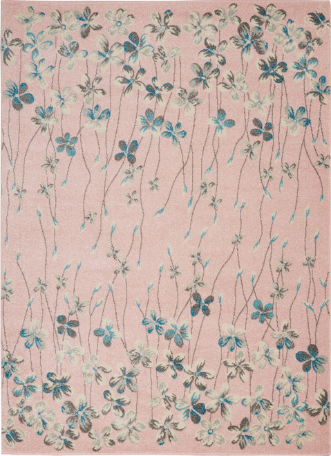 Nourison Tranquil TRA04 Pink Hallway Area Rug - NOR-TRA04-Pink