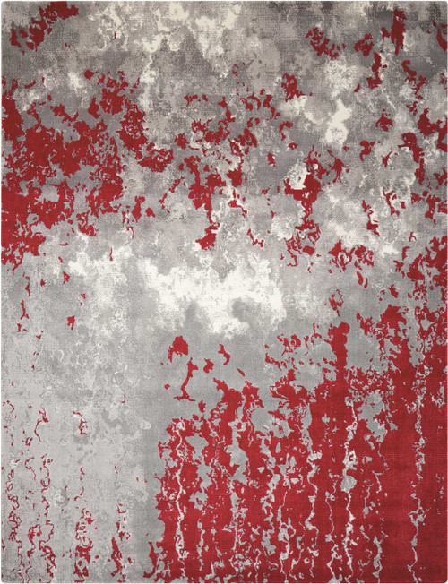 Nourison Twilight Grey-Red Area Rug - NOR-TWI21-Grey-Red