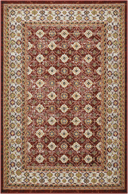 Nourison Aria Red Area Rug - NOR-AR002-Red