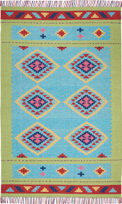 Nourison Baja Blue-Green Area Rug - NOR-BAJ02-Blue Green