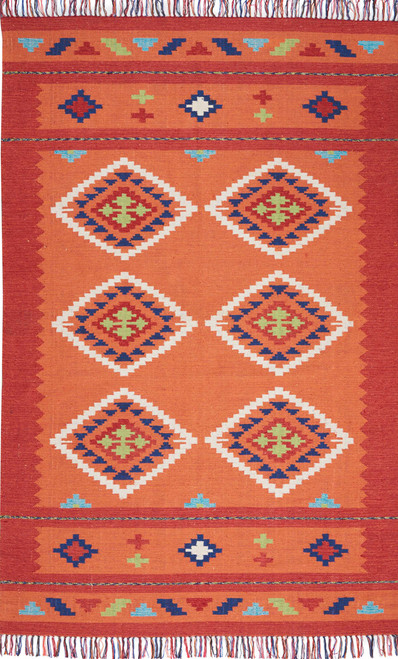 Nourison Baja Orange-Red Area Rug - NOR-BAJ02-Orange-Red