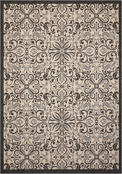 Nourison Caribbean Charcoal Area Rug - NOR-CRB12-Charcoal