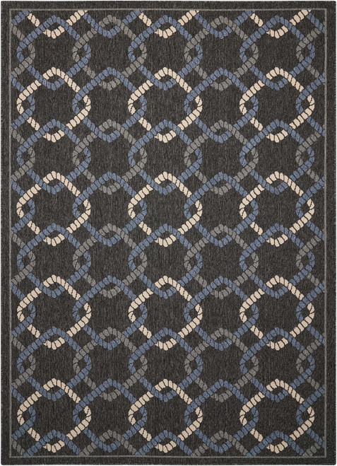 Nourison Caribbean Charcoal Area Rug - NOR-CRB16-Charcoal