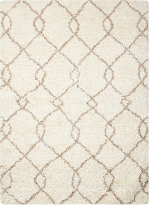 Nourison Galway Ivory-Tan Shag Area Rug - NOR-GLW02-Ivory-Tan