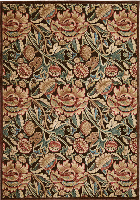 Nourison Graphic Illusions Brown Area Rug - NOR-GIL10-Brown