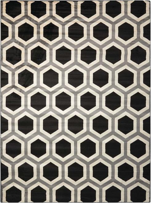 Nourison Nova Black-White Area Rug - NOR-NO105-Black-White