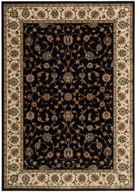 Nourison Persian Arts Black Area Rug - NOR-BD04-Black