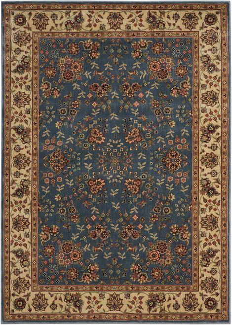 Nourison Persian Arts Light Blue Area Rug - NOR-BD05-Light Blue