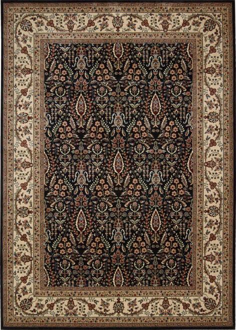 Nourison Persian Arts Black Area Rug - NOR-BD08-Black