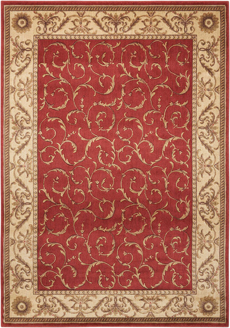 Nourison Somerset Red Area Rug - NOR-ST02-Red