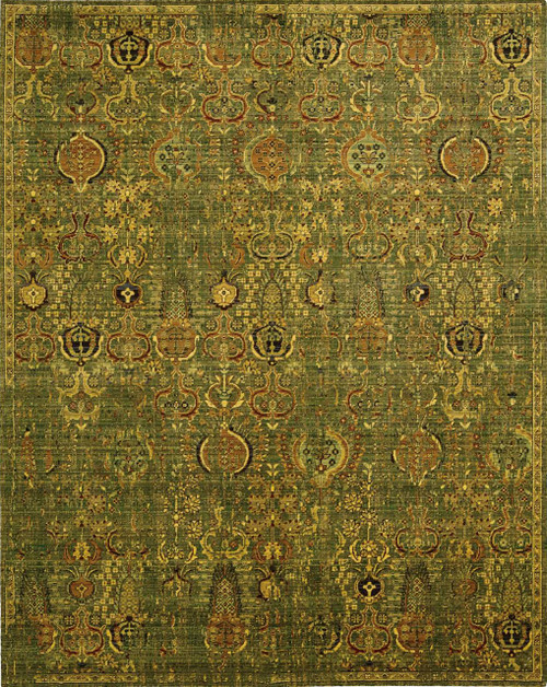 Nourison Timeless Green Gold Area Rug - NOR-TML11-Green Gold