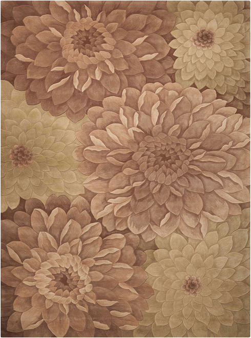 Nourison Tropics Taupe-Green Area Rug - NOR-TS11-Taupe-Green