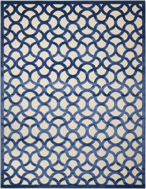 Nourison Ultima Ivory Blue Area Rug - NOR-UL392-Ivory Blue