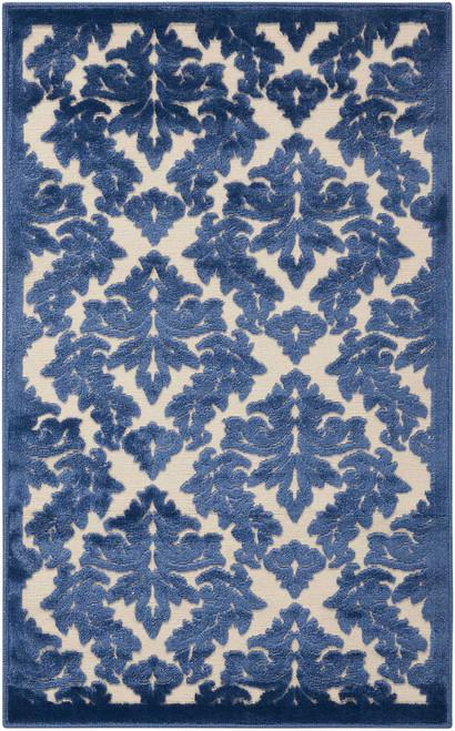 Nourison Ultima Ivory Blue Area Rug - NOR-UL632-Ivory Blue