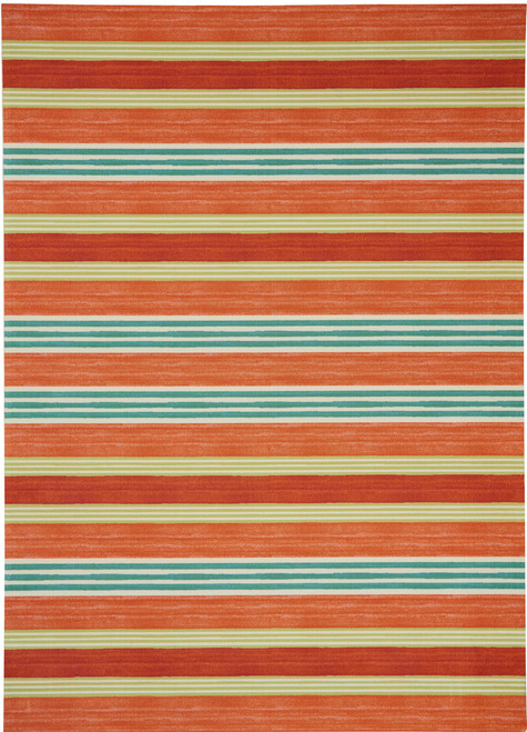 Waverly Sun N Shade SND71 Red Orange Striped - SND71 Orange
