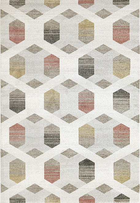 Dynamic Rugs Avenue 3403-6111 Ivory-Multi Contemporary