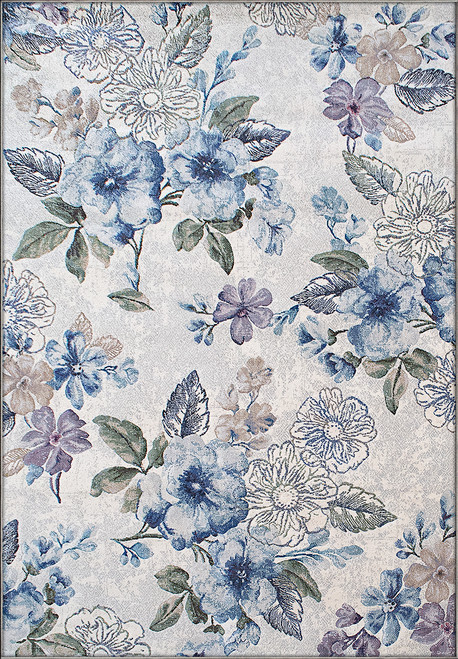Dynamic Rugs Eclipse 63322-6141 Cream Blue Contamporary