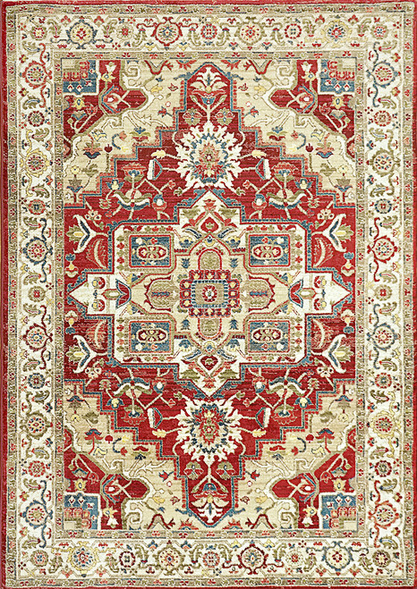 Dynamic Rugs Juno 6882-130 Ivory-Red