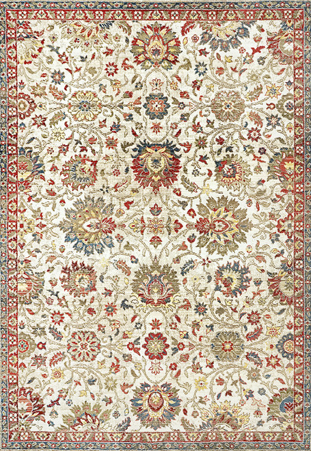 Dynamic Rugs Juno 6883-130 Ivory-Red Traditional