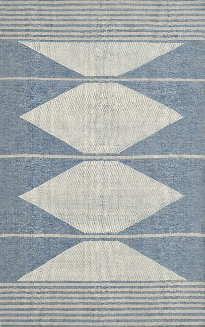 Dynamic Rugs Oak 8374-501 Blue-Ivory