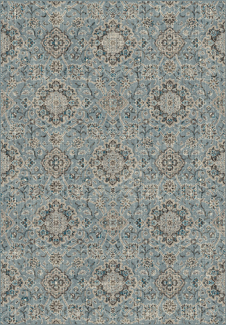 Dynamic Rugs Regal 89665-4929 Blue-Taupe
