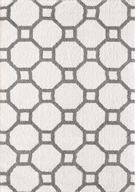 Dynamic Rugs Silky 5903-119 White-Silver