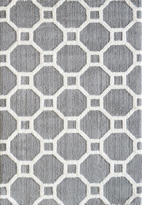 Dynamic Rugs Silky 5903-901 Silver-White