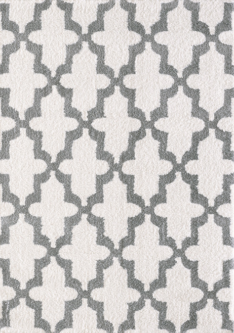Dynamic Rugs Silky 5906-110 White-Silver