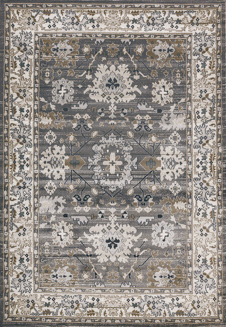 Dynamic Rugs Yazd 8531-910 Grey-Ivory