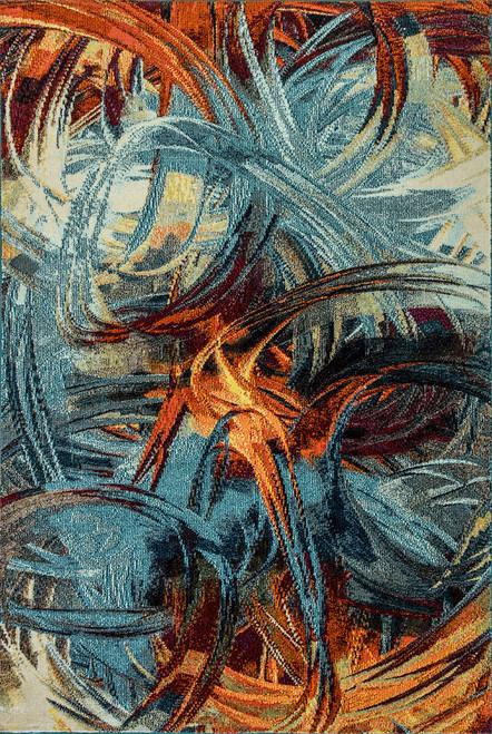Dynamic Rugs Zodiac 6622-536 Blue-Multi Contemporary